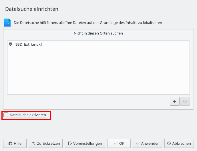"""Fenster """"Dateisuche"""" in KDE"""