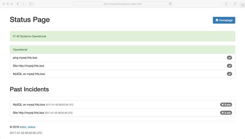 Beispiel: Statusseite